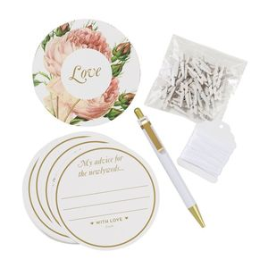 Wedding Advice Cards And Wedding Wishes Kit - albums & guest books