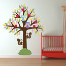 Tree With Star Leaves Wall Stickers