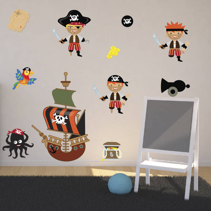 Pirates Kids Wall Decal: Pirates Boys Wall Stickers By Mirrorin