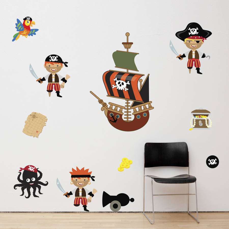 Pirates Boys Wall Stickers By Mirrorin Notonthehighstreet