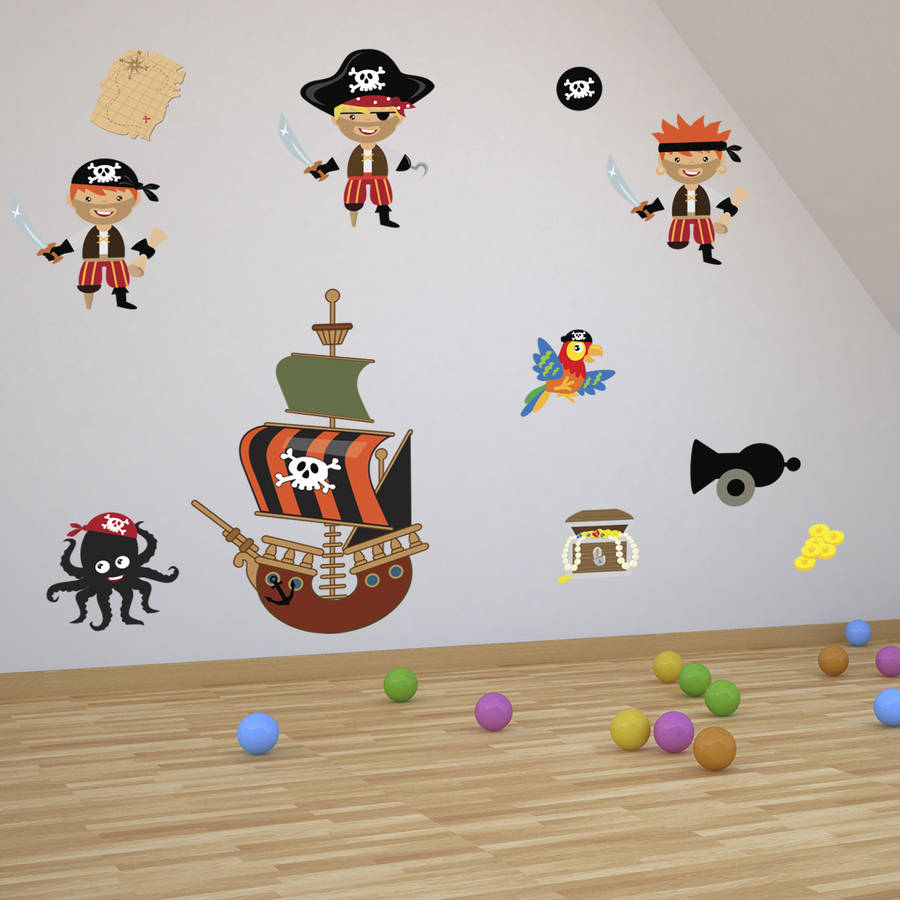 Beau Pirates Boys Wall Stickers
