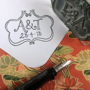 Personalised 'Rococo' Initials Stamp