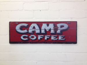 Vintage Style Camp Coffee Sign