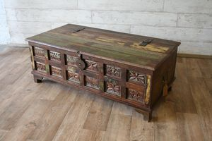 Aimee Upcycled Trunk Box Coffee Table - furniture