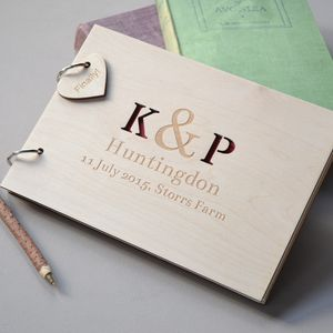 Personalised Initials Guest Book - wedding day tokens