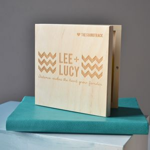 Chevron CD Keepsake Box