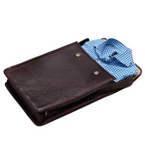Fine Leather Shirt Carrier/ Case. 'The Sepino' - bags & cases