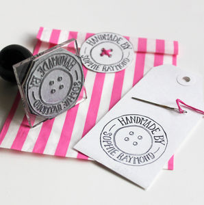 Personalised 'Button' Craft Stamp