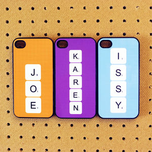 Personalised Scrabble Letter Case For iPhone - technology accessories