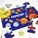 Personalised Learn About Space Wooden Jigsaw Puzzle