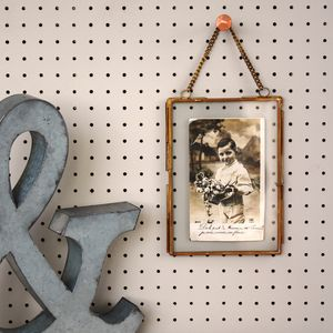 Antique Brass Hanging Photo Frame - home accessories