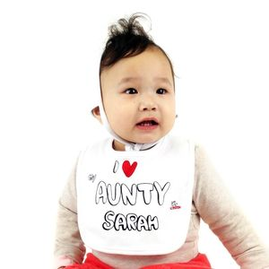 Personalised 'I Love My Aunty' Bib - baby care
