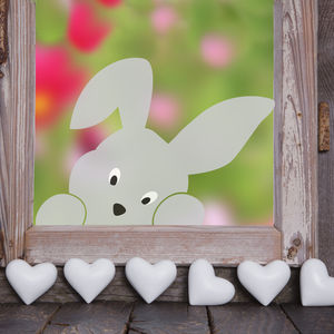 Peeping Bunny Window Sticker - wall stickers