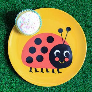 Retro Design Ladybird Melamine Plate - baby care