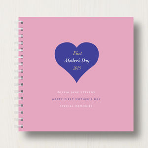 Personalised 1st Mother's Day Memories Book Or Album