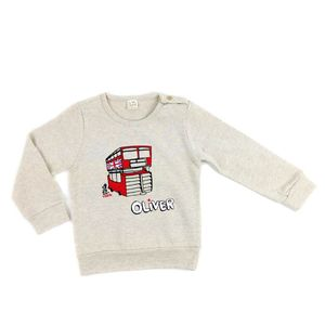 Personalised London Double Decker Bus Baby Jumper