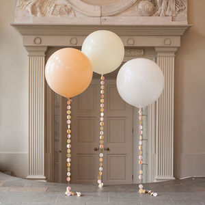 Bridal Giant Circle Tail Balloon - outdoor decorations
