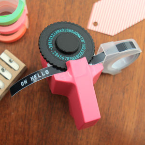 Retro 80s Style Embossing Label Maker - new in wedding styling