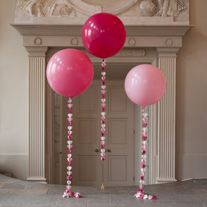 Shades Of Pink Giant Heart Tail Balloon - room decorations