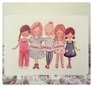 Personalised Girl Friends Card