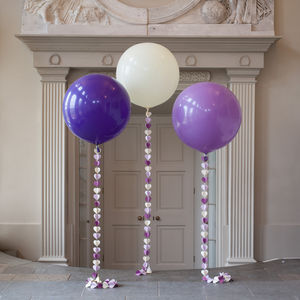 Shades Of Purple Giant Heart Tail Balloon - room decorations