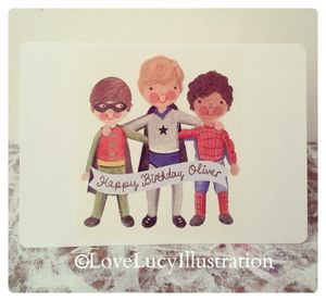 Personalised Superhero Card - blank cards