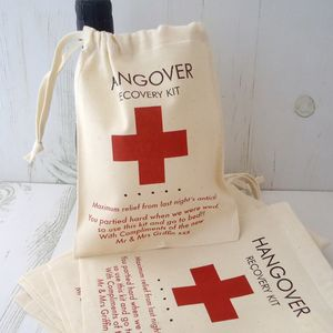 Hangover Recover Bag For Weddings