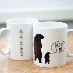 Daddy Bear Mug - personalised gifts for fathers