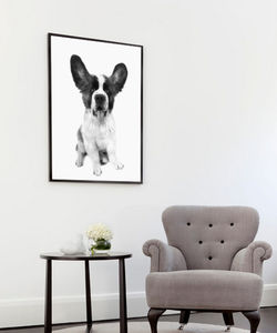 Happy Dog, Ready To Hang Art - animals & wildlife