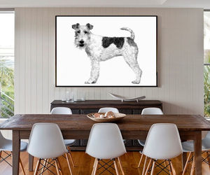 Fox Terrier, Canvas Art - animals & wildlife