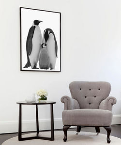 Penguins, Canvas Art - contemporary art