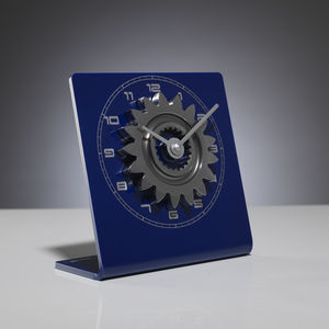 F1 Gear Ratio Clock – Blue And Silver
