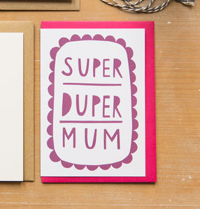 'Super Duper Mum' Card - last-minute cards & wrap