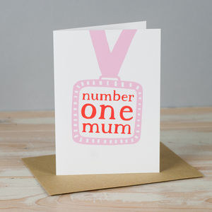 'Number One Mum' Card - last-minute cards & wrap