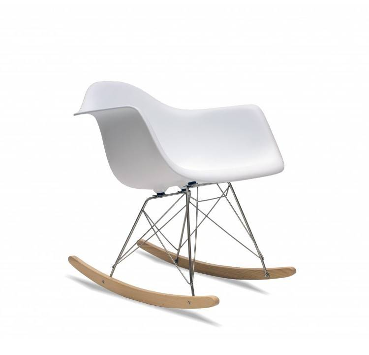 eames style white rocker chair by i love retro. Black Bedroom Furniture Sets. Home Design Ideas
