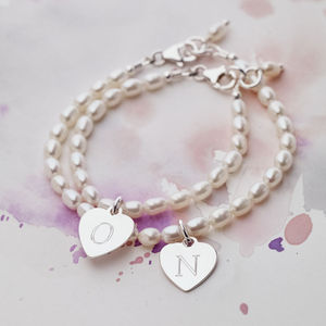 Personalised Mother And Daughter Bracelet Set - children's jewellery