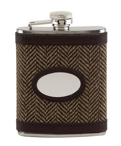 Personalised Tweed Hip Flask - men's accessories