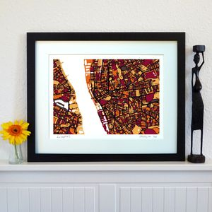 Liverpool Map Art Print