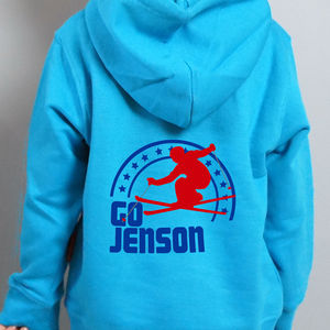 Child's Personalised Ski Hoodie - children's jumpers