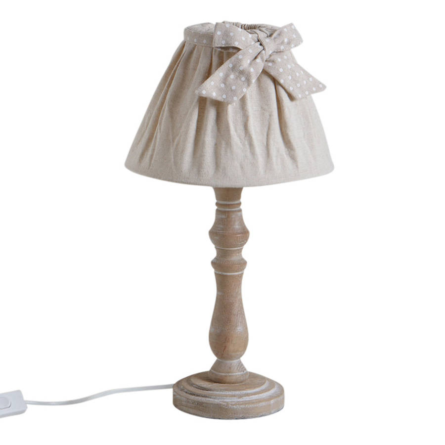 wooden table lamp with shade by dibor. Black Bedroom Furniture Sets. Home Design Ideas