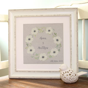 Wedding Anniversary Floral Canvas Print