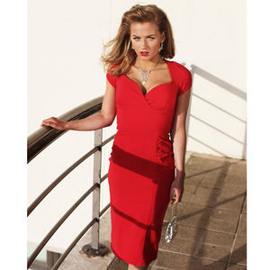 Dita 1940s Style Pencil Dress - women's fashion