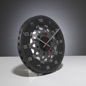 Formula One Upcycled Brake Disc Clock - clocks