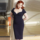 Dita 1940s Style Pencil Dress