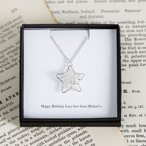 Personalised Wire Star Charm Necklace