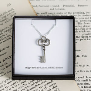 Personalised Key Charm Necklace