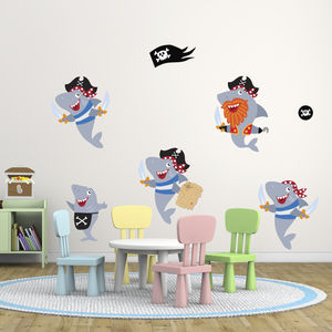 Pirate Sharks Boys Wall Stickers - wall stickers