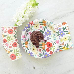 Floral Meadow Party Tableware - summer wedding