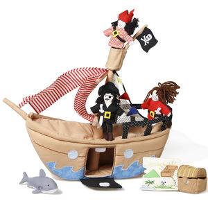 Fabric Jolly Roger Pirate Ship