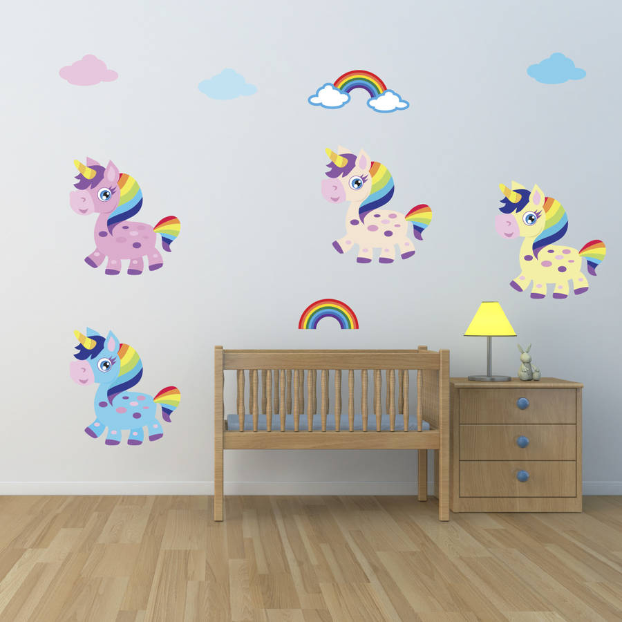 Girls Unicorn Wall Stickers By Mirrorin